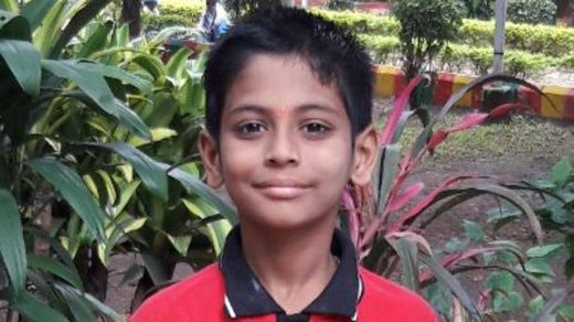Shreeshanth Mallikarjun, class V student from Morya Shiksha Sansthan (MSS) High School in Chinchwad.