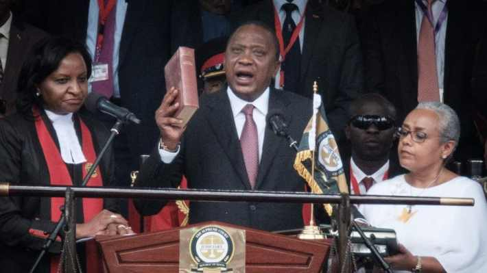 Image result for The promises that President Kenyatta made at his second inauguration