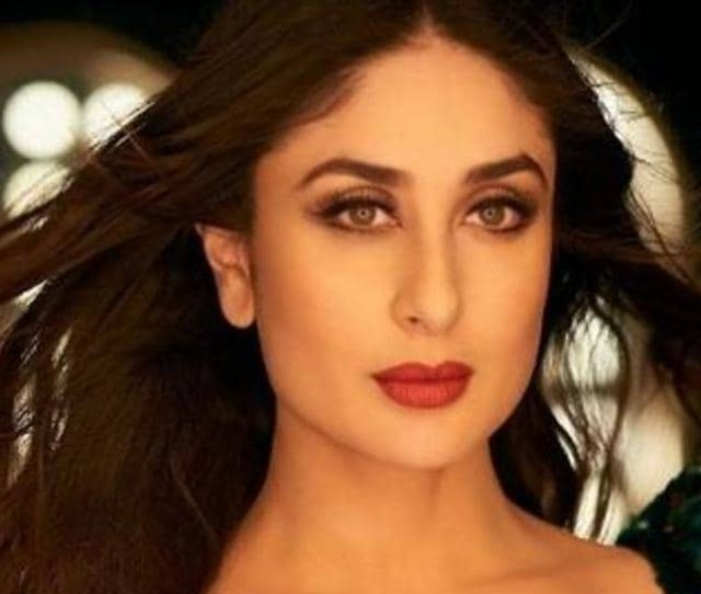 Kareena Kapoor Khans Shimmering Skin And Glossy Wavy Hair Positively Gleam With Her Totally Embellished Rama Green Gown See Pictures Below