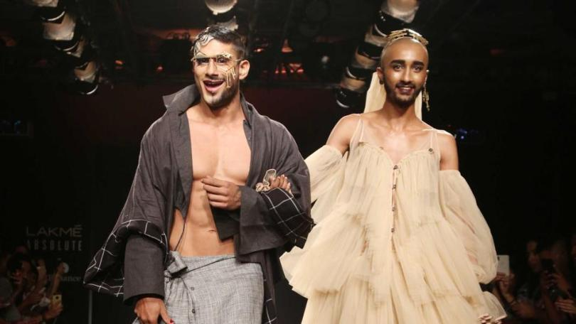 Lakme Fashion Week 2018  Is India ready to accept queer fashion     Lakme Fashion Week Queer fashion Chola by Sohaya Mishra