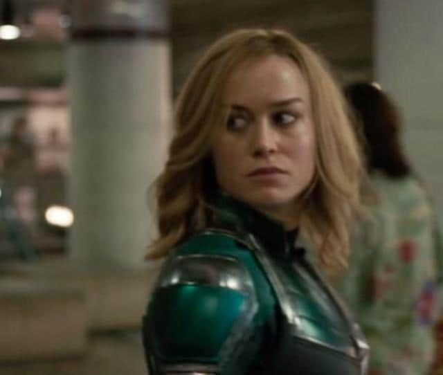 Captain Marvel Trailer Shows Brie Larsons Carol Danvers Literally Falling Onto A Blockbuster Video