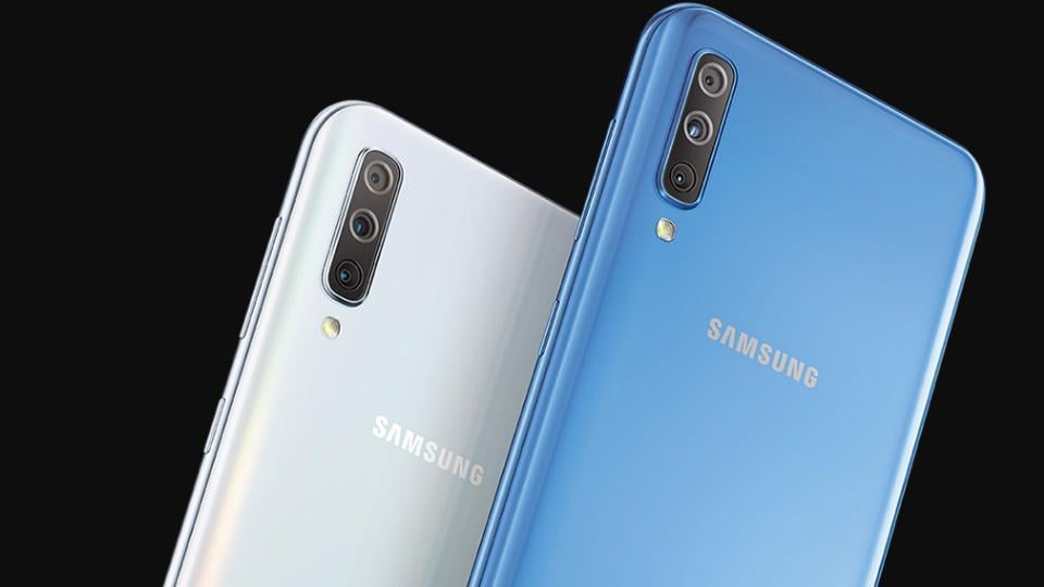 Image result for galaxy a70 launched