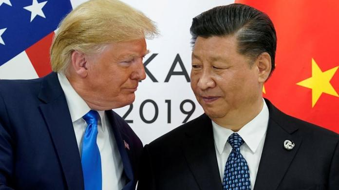 US President Donald Trump with China's President Xi Jinping