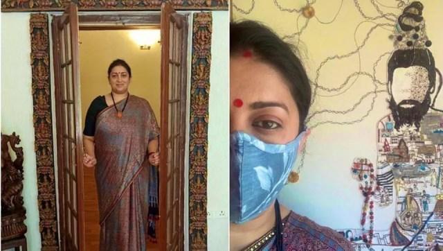 Smriti Irani flaunts all her handloom and handcrafted goodies.