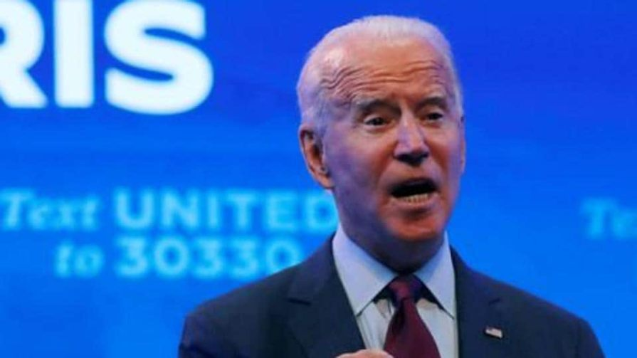 US Democratic presidential candidate and former Vice President Joe Biden delivers a speech at the Queen Theater in Wilmington, Delaware on September 27, 2020.