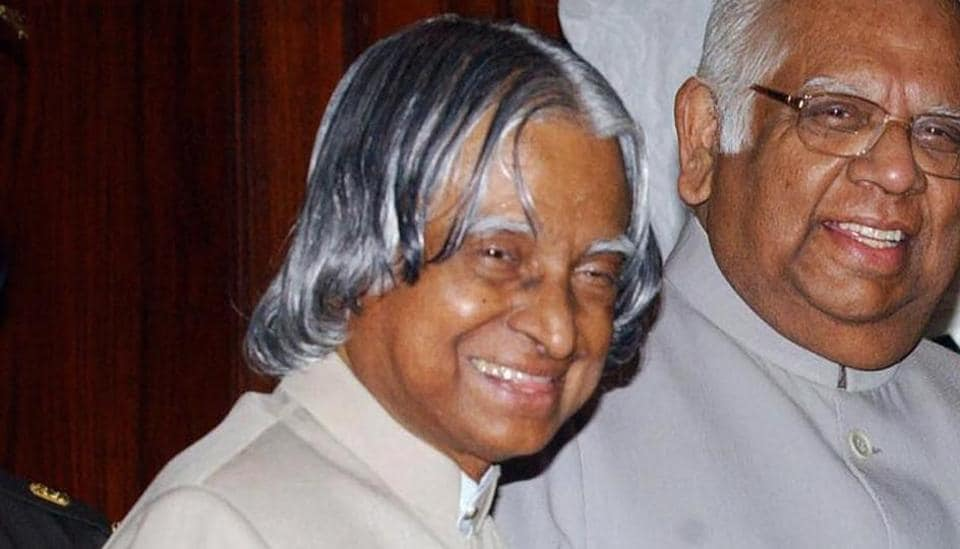 Late former President APJ Abdul Kalam, at Parliament House in New Delhi.