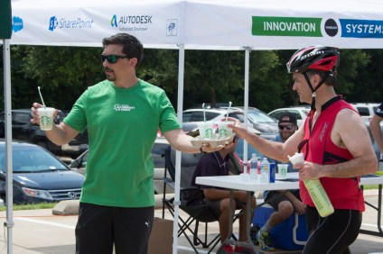 Starbucks Refreshers at HingePoint Tent - 2016 Collins Bike Rally