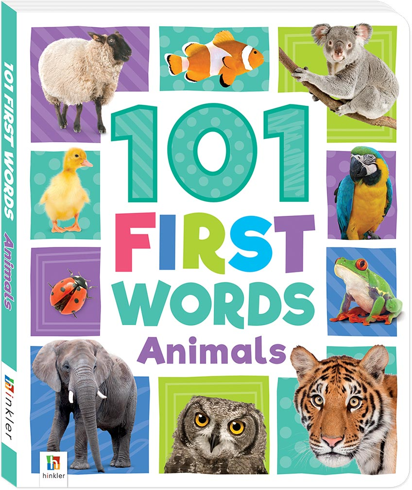 101 First Words Animals Board Early Learning Children Hinkler
