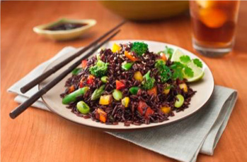 an image of a black rice super food salad