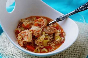 image of texas jambalaya rice