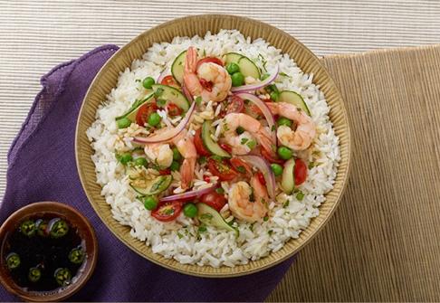 image of thai prawn and rice salad