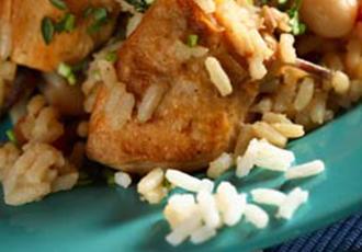 Hinode Rice: chicken fricassee
