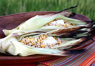 Hinode Rice: Ecuadorian Brown Rice Baked Corn Husk