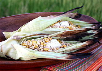 Hinode Rice: Ecuadorian Brown Rice Baked Corn Husk
