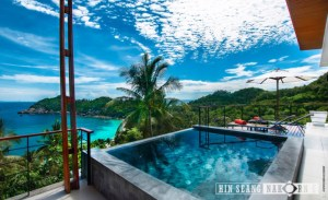 natural stone for swimming pool installed in hotel and resort