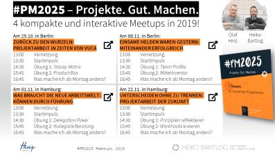 Meetups von Olaf Hinz und Heiko Bartlog