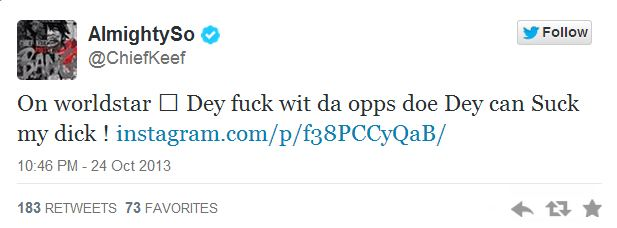 Chief Keef Lil Durk tweet 1