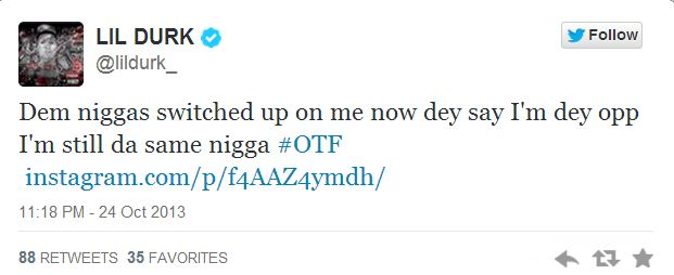 Chief Keef Lil Durk tweet 2