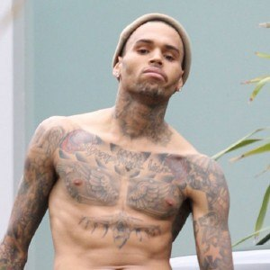 EXCLUSIVE - Angry Chris Brown takes off his shirt in unprovoked tirade