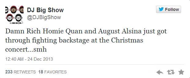 August Alsina fight tweet 1