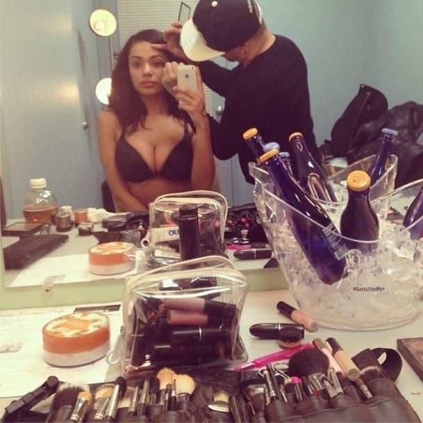 Erica Mena cleavage 2