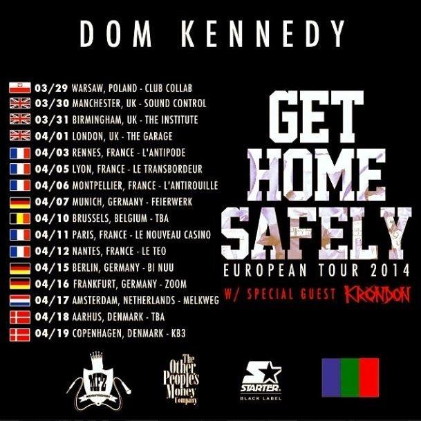 Get Home Safely European tour