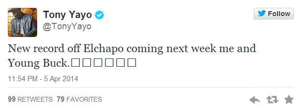 Tony Yayo tweet El Chapo