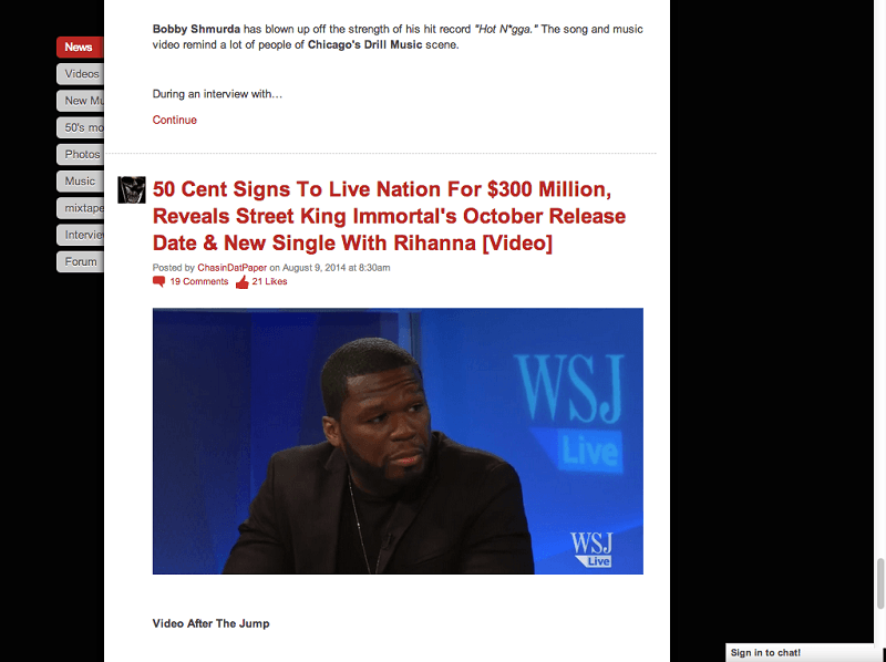 50 Cent article