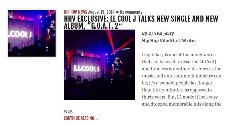 HHV Exclusive LL Cool J