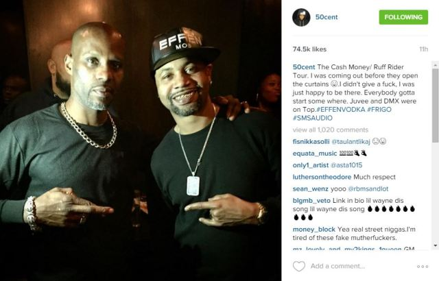 50 Cent pays homage to his first tour with Cash Money and Ruff
