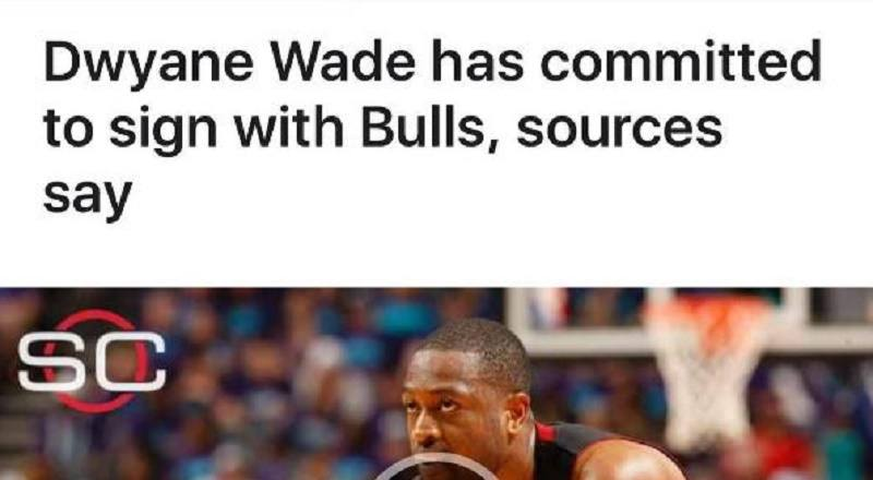 BREAKING NEWS: Dwyane Wade confirms he will join Chicago
