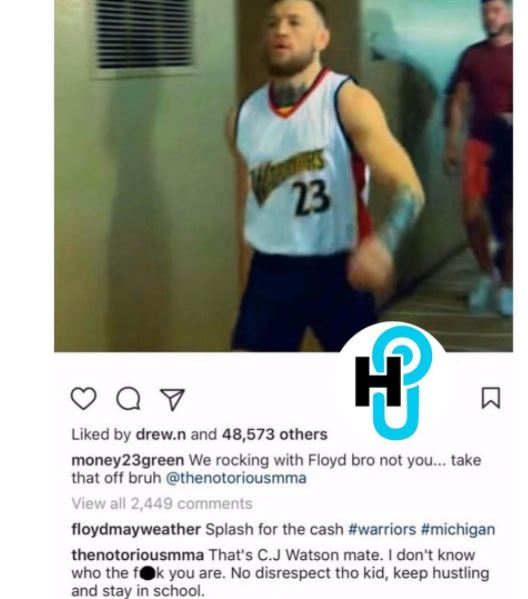 reputable site 9aca0 af3b8 Draymond Green tells Conor McGregor to take his jersey off ...