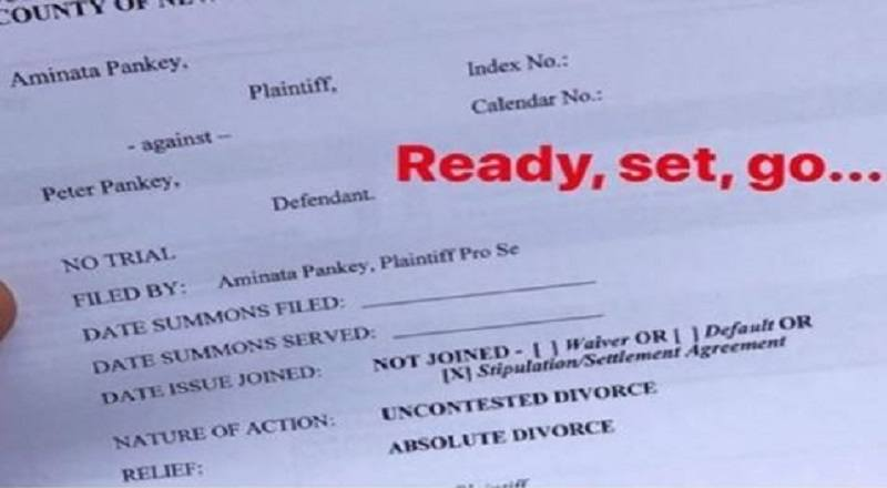 Amina Buddafly Shares Her Divorce Papers On Instagram And Peter Gunz