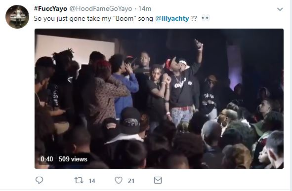 Go Yayo calls Lil Yachty out, accusing him of stealing his