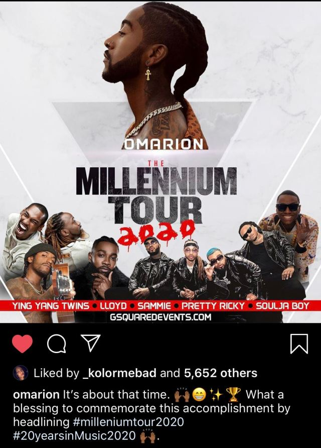 Booked and Unbothered: Omarion Announces Millennium Tour ... Lil Fizz 2020