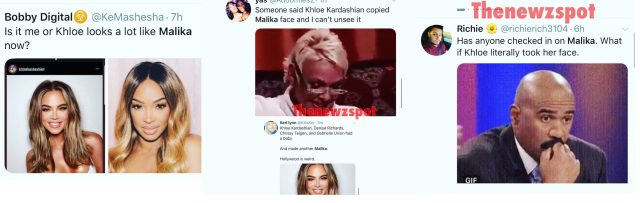 Khloe Kardashian shares new IG post, where fans believe she looks disturbingly a lot like Malika Haqq, her best friend. On Twitter, fans are expressing this shock, coming with more criticism. Meanwhile, Khloe's baby daddy, Tristan Thompson, says he is a fan of the new look.