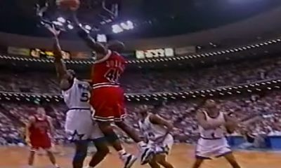 Michael Jordan's Bulls lose Game 1 to Horace Grant's Orlando Magic, in Orlando, on May 7, 1995. Game 1 of the second round of the 1995 NBA Playoffs