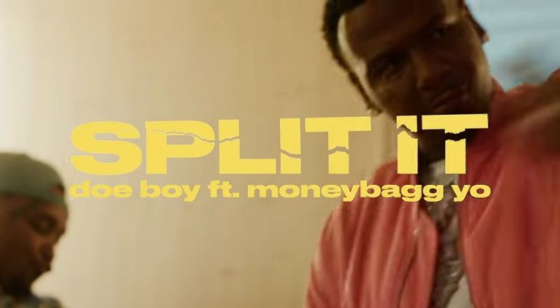 """Doe Boy releases the music video for his single, """"Split It,"""" featuring Moneybagg Yo."""