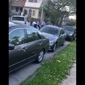 """Black man gets cornered by Philadelphia police, in broad daylight. The officers proceed to beat him to the ground. A person films from their house, as the man screams """"I can't breathe."""""""