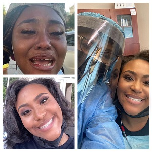 "Miracle Boyd went viral, last week, when she revealed the police officers knocked her teeth out, during a peaceful protest, in Chicago. Hearts broke for her, seeing her beautiful smile ruined, for no reason. But, Dr. Heavenly, of ""Married To Medicine"" fame, took matters into her own hands, and she decided to accommodate Miracle, in Atlanta, where she provided her with veneers, for free."