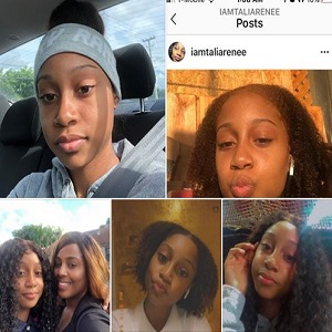 Yesterday, Lyneise Rachelle, shared photos of her daughter, Talia Renee, on Facebook, revealing she is missing. Her daughter went missing on July 7, 2020, last heard from around 5:30 pm, last tracked by her T-Mobile cell phone was last tracked between 9:30 and 11:30 pm, at her North Miami home. Lyneise's nephew, Talia's cousin, said a black truck was circling their home, before she disappeared, and now Lyneise is asking for help.