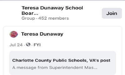 "Teresa Dunaway, a school board member for Charlotte County Public Schools, in Virginia is not a fan of George Floyd. When she saw an article about George Floyd's memorial hologram being shown in Richmond, the Virginia state capital, she didn't like it. Posting onto Facebook, Dunaway said ""stupid as hell,"" boldly adding ""Yes I said it!"""