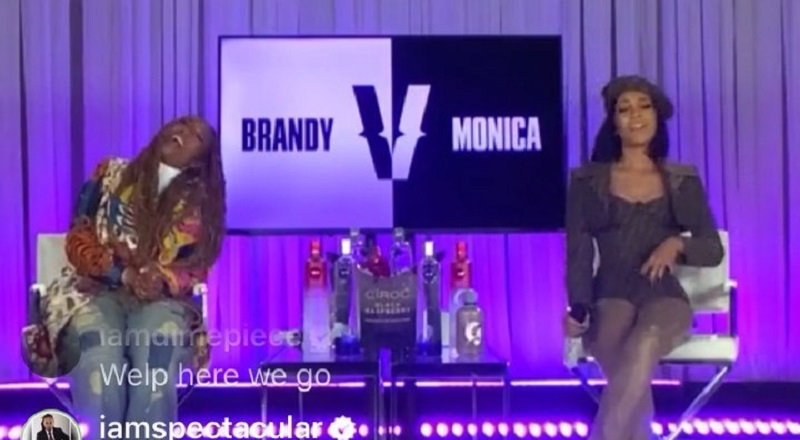 Brandy is battling Monica in the Versuz that everybody has wanted to see, this entire time. While fans expected tensions to be thick, simply due to the history, Brandy is stealing the show. On Twitter, people are pointing out how thick Brandy appears, questioning if that's her, or if it's the jeans that she's wearing.