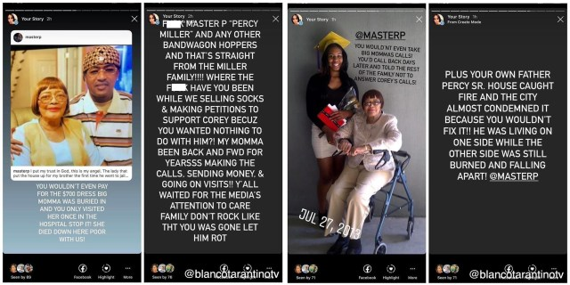 Master P has recently been embroiled in controversy, due to him speaking publicly out at C-Murder, saying P didn't do enough to get him out of prison. First, Master P and Monica got into it, before P apologized for bringing her into the family drama, but then a family member came at P, accusing him of lying about being there for his grandmother and grandfather, not giving money to the family, ignoring them, and not going to see C, like he said he did. After seeing this, Master P revealed he is done with his family, saying his ATM is cut off, and now they need to get a job, as he's done enabling ungrateful people.