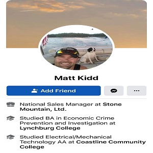 Matt Kidd is the National Sales Manager, at Stone Mountain Ltd. He has been following the events in Kenosha, Wisconsin, but he is not on the side of the protesters. Commenting on a post, sharing an article about the two protesters being killed, and the killer being arrested, Matt Kidd said the man who killed the protesters deserves a medal, not handcuffs.