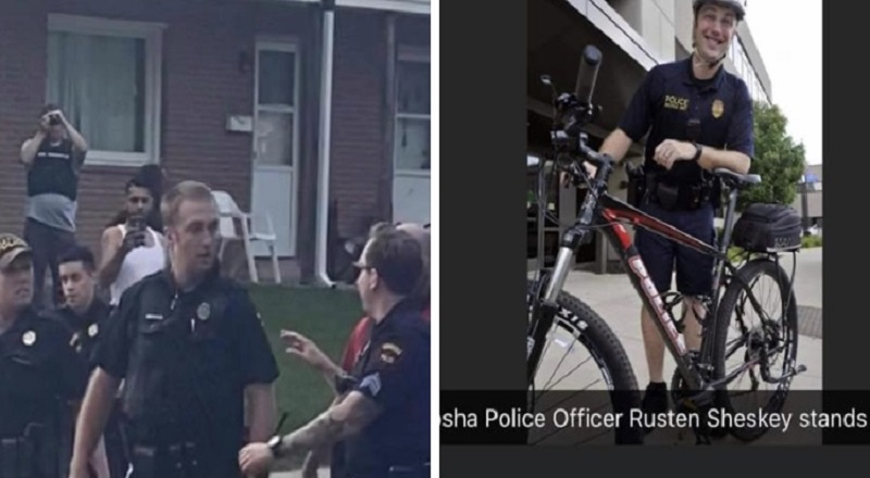 Yesterday, the outrage over the Jacob Blake shooting led to the wrong person being identified as his shooter. An officer, named Luke Courtier was wrongly blamed for shooting Jacob Blake, when he wasn't even on the scene. Rusten Shesky is the officer, who shot Jacob Blake, grabbed his arm, and unloaded seven shots on him. Shesky is a resource officer, working at Bradford High School.