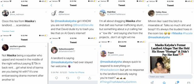 Masika gets put on blast by David Weintraub, who claims he was her landlord. Recently, he did an interview on Brandi Glanville's podcast, where he accused her of squatting on his property, refusing to leave, and when she finally did, taking the house's appliances. On Twitter, fans have laughed at Masika, over this situation, but have given David the side-eye, over his comments, which they consider to be racist.