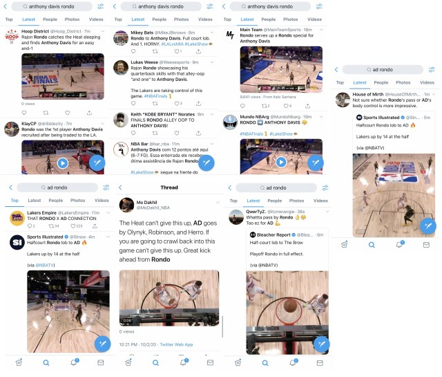 Anthony Davis has eaten well, off two Rajon Rondo passes. As the Lakers take a dominating lead against the Miami Heat into halftime, AD and Rondo shifted the momentum. Rajon Rondo first fed Anthony Davis an alley oop, before feeding him a half court lob, for a layup. Twitter is going insane, witnessing this.