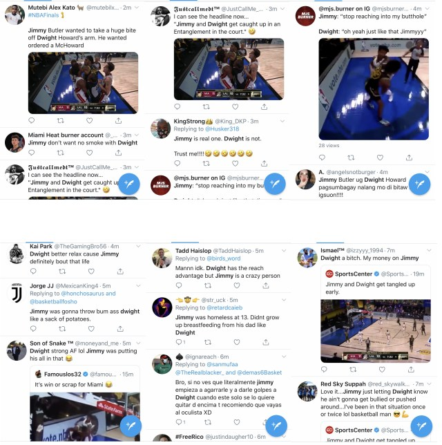 Dwight Howard and Jimmy Butler got into a fight, barely five minutes into Game 5. Both players are playing for their first championship. Their fight took over Twitter, with fans deciding who would win the fight.