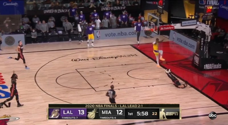 LeBron James gave the Lakers a boost, in Game 4 of the NBA Finals. A close game, LeBron got an easy steal, and went for the easy dunk. Tyler Herro, who has received tons of press, for his snarl, after Game 3, tried to defend the dunk, only for LeBron to put him on a poster, and Twitter now has jokes.